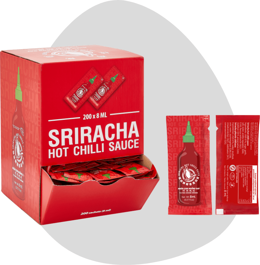 Sriracha Hot Chilli Sauce Sachet